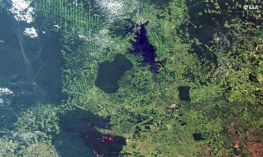 Brazil's Amazon basin, part of the Forests 2020 project from IPP Call 1. Credit: ESA.