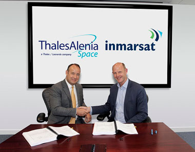 Thales Alenia Space and Inmarsat sign contrct for the construction of GX satellite
