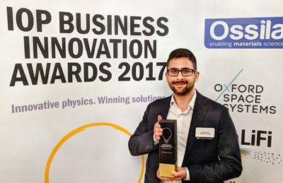 Alex Brinkmeyer with IOP Award