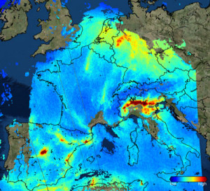 UKSA Sentinel-5 air pollution image