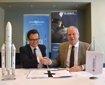 EDRS-C satellite signing