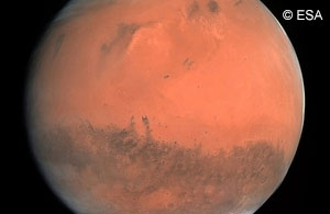 Mars depicted by Rosetta