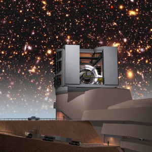 LSST Facilities Building with Simulated Night Sky