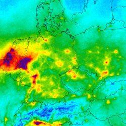 Nitrogen dioxide over Europe