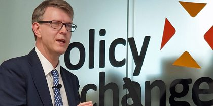 Graham Peters addresses the Policy Exchange