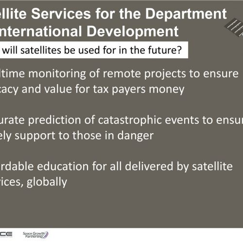 Click here to view the infographic about Satellite Services for the Department of International Development