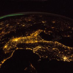 Night earth from ISS 1600