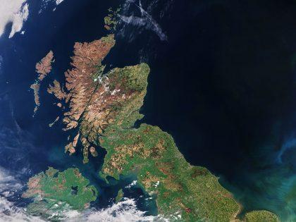 United Kingdom satellite image