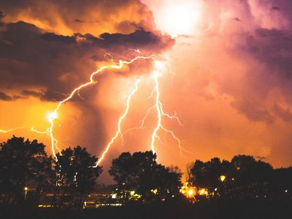 Severe weather storms lightning