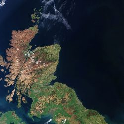 Scotland satellite image (ESA)