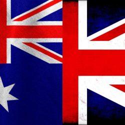 UK and Australian flags