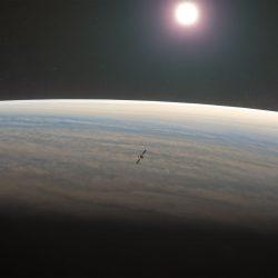 Artist's impression of ESA's EnVision mission at Venus (copyright ESA/VR2Planets/DamiaBouic)