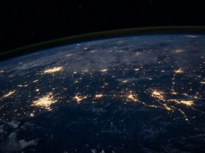 View of the Earth at night